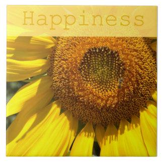 Baldosa cerámica del girasol de la felicidad tejas