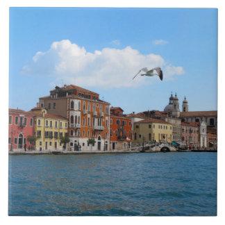 Baldosa cerámica del Gran Canal de Venecia Azulejo