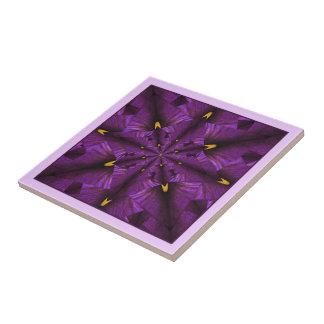 Baldosa cerámica del iris de la mandala púrpura de tejas  ceramicas