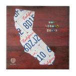 Baldosa cerámica del mapa de la placa de Californi Azulejo Cuadrado Pequeño