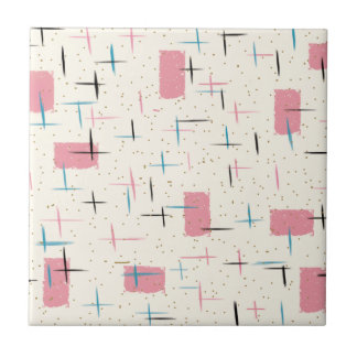 Baldosa cerámica del modelo rosado atómico retro azulejo cuadrado pequeño