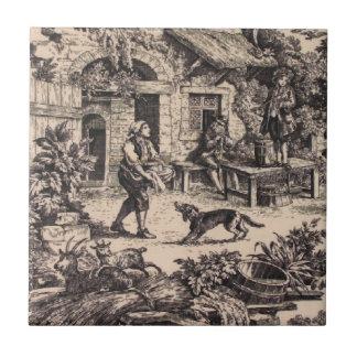 Baldosa cerámica del negro francés del país del vi tejas  cerámicas