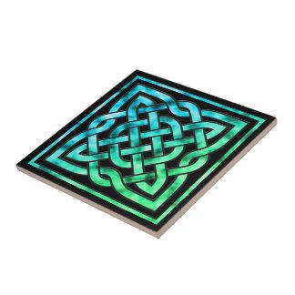 Baldosa cerámica del nudo céltico: Diseño cuadrado Azulejo Cuadrado Pequeño