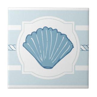 Baldosa cerámica del océano de las rayas náuticas azulejo cuadrado pequeño