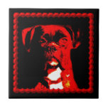 Baldosa cerámica del perro del boxeador tejas  ceramicas