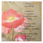 Baldosa cerámica del poema de la felicidad de las  tejas  ceramicas