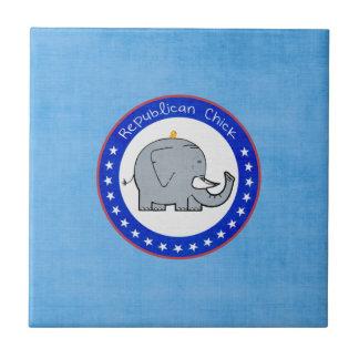 baldosa cerámica del polluelo republicano azulejo cuadrado pequeño