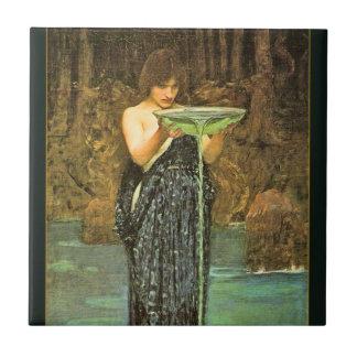 Baldosa cerámica del Pre-Raphaelite de Circe Invid Azulejos