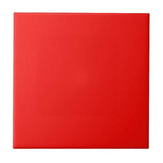 Baldosa cerámica del rojo cereza brillante sólido azulejo cuadrado pequeño