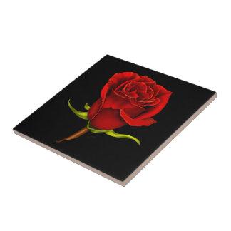 Baldosa cerámica del rosa rojo en negro azulejo cuadrado pequeño