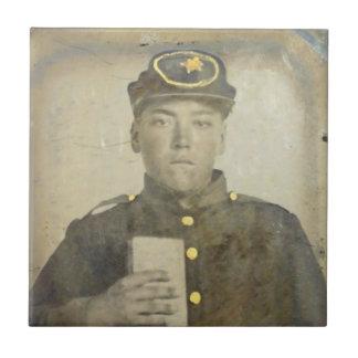 Baldosa cerámica del soldado desconocido de azulejo cuadrado pequeño