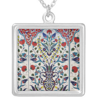 Baldosa cerámica esmaltada otomano árabe colgante cuadrado