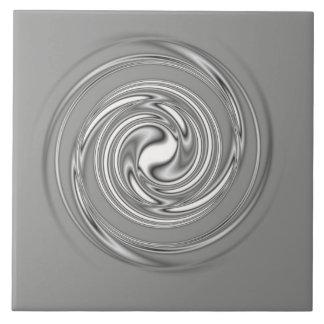 Baldosa cerámica espiral gris azulejo cuadrado grande