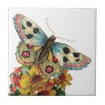 Baldosa cerámica floral de la mariposa bonita azulejo ceramica