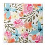 Baldosa cerámica floral del paraíso azulejo cerámica