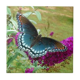 Baldosa cerámica manchada rojo de la mariposa púrp azulejo cuadrado pequeño