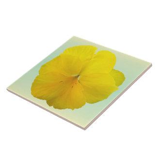 Baldosa cerámica - pensamiento amarillo a lápiz azulejos cerámicos