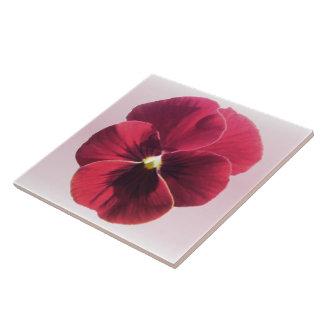 Baldosa cerámica - pensamiento rojo oscuro teja