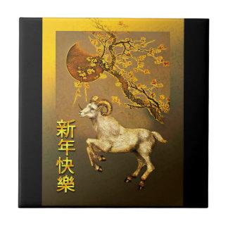 Baldosa cerámica por el Año Nuevo chino del Azulejos