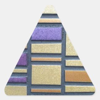 Baldosa cerámica púrpura y azul pegatina triangular