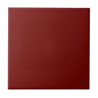 Baldosa cerámica roja marrón sólida azulejo cuadrado pequeño