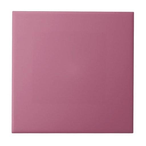 Baldosa cerámica rosada de color de malva sólida azulejo cuadrado pequeño