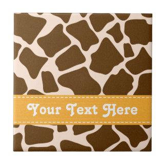 Baldosa cerámica Trivet de la jirafa de la impresi Azulejo Cuadrado Pequeño