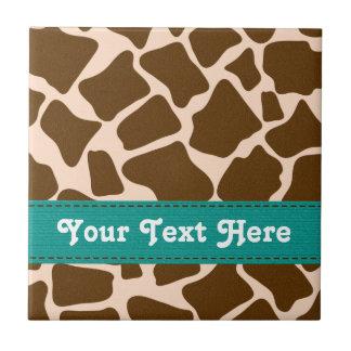 Baldosa cerámica Trivet de la jirafa del trullo de Azulejo Cuadrado Pequeño