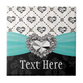 Baldosa cerámica Trivet del corazón del diamante d Azulejo Cuadrado Pequeño