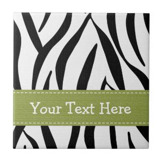 Baldosa cerámica Trivet del estampado de zebra de  Azulejo Cuadrado Pequeño
