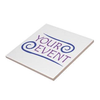 Baldosa cerámica Trivet del logotipo de encargo Azulejo Cuadrado Pequeño