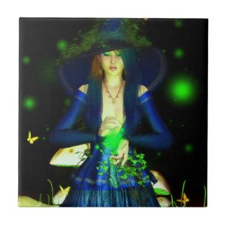 Baldosa cerámica verde de Magick Azulejo Cuadrado Pequeño
