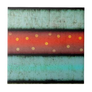 Baldosa cerámica vibrante azul y roja azulejo cuadrado pequeño