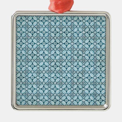 Baldosas cerámicas adorno cuadrado plateado