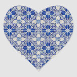 Baldosas cerámicas colcomanias de corazon