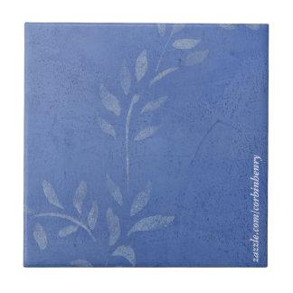 Baldosas cerámicas de la vid azul azulejo cuadrado pequeño