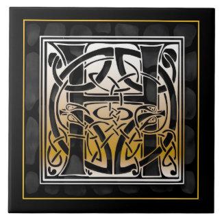 Baldosas cerámicas de piedra negras célticas del m azulejo cuadrado grande