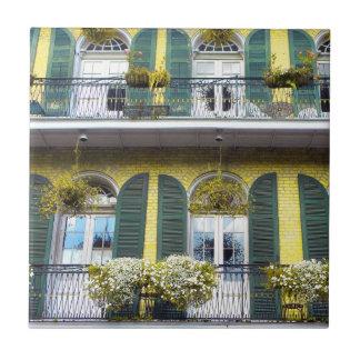 Baldosas cerámicas del barrio francés de New Orlea Azulejo Cuadrado Pequeño