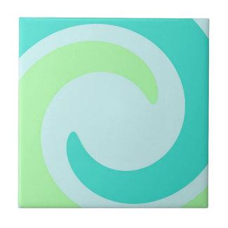 Baldosas cerámicas del mar de la turquesa retra de azulejo cuadrado pequeño