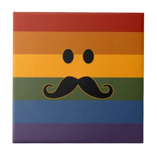 Baldosas cerámicas del orgullo del bigote azulejo cuadrado pequeño
