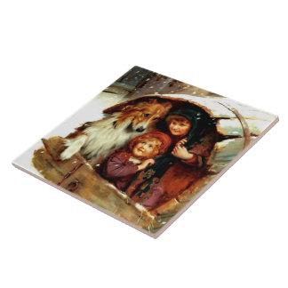 Baldosas cerámicas del regalo del navidad de la azulejo cuadrado grande