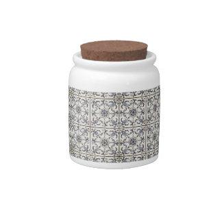 Baldosas cerámicas holandesas 2 jarras para caramelos