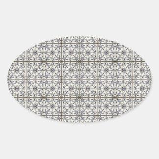 Baldosas cerámicas holandesas 2 calcomanías de ovaladas