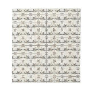 Baldosas cerámicas holandesas 4 bloc de papel