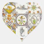 Baldosas cerámicas holandesas calcomanías de corazones personalizadas