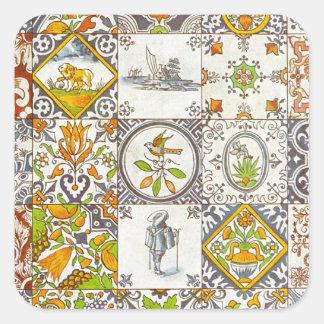 Baldosas cerámicas holandesas pegatina cuadrada