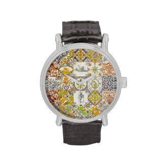 Baldosas cerámicas holandesas reloj de mano