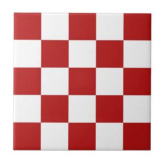 Baldosas cerámicas retras de los inspectores rojos azulejos