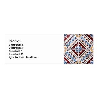 Baldosas cerámicas tarjeta de visita