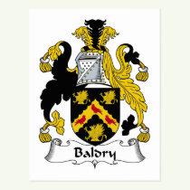 Baldry Family Crest Postcard
